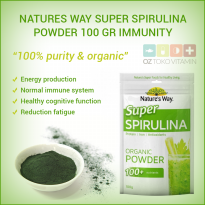 Natures Way Super Spirulina Powder 100 Gr Stamina Daya Tahan Tubuh