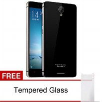 Back Case Xiaomi Redmi Note 2 Tempered Glass Series List Silver – Hitam FREE Tempered Glass