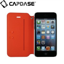 Capdase Apple iPhone 5s / 5 Case, Folder Case Sider Baco (Red/White)