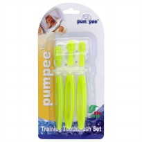 Pumpee Training Toothbrush Set PA-105TB Hijau - Sikat Gigi Bayi BPA Free