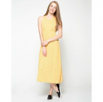 Geometric Long Dress Motif - Kuning