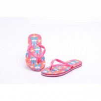 HDF SANDAL ANAK | RABBIT FLOWER [RED/PINK]