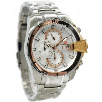 Chronoforce 5276MSR Jam Tangan Pria Stainless Steel Silver Ring Rosegold
