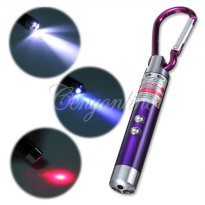 Senter UV Led Laser keychain Gantungan Kunci Pointer Money Detector