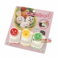Nori Puncher - 3 Face Food Mold Vegetable Cutter Cetakan Bento Sayuran