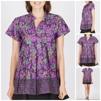 [WINGGO] Blouse Batik Blus Briana Purple