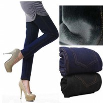 Celana Legging Panjang Thermal Jeans Lapis Bulu 4XL-5XL Winter Musim Dingin Import Best Seller