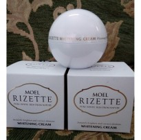 MOEL RIZETTE MAGIC WHITENING CREAM 50 GR 1ST GEN GENERATION ORIGINAL BPOM FIRST FULL JAR INSTANT