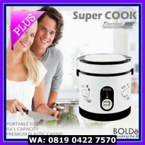 (Dijamin) Super COOK Rice CooKeR MiNi 3 In 1 Bolde 0.6L - Original -