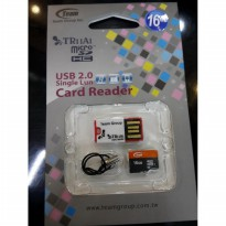 Memory Micro sd Team 16GB + Usb Card reader