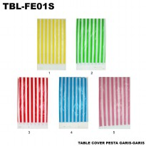 Table Cover Pesta Garis-Garis - TBL-FE01S