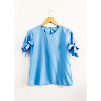 Kalila Plain Top - Soft Blue