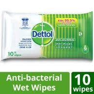[FREE POUCH] DETTOL - Anti Bacterial Wet Wipes