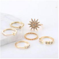 OILA cincin set 6 pcs diamond star moon set ring (1G3) jci054