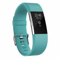 Fitbit Charge 2 Heart Rate + Fitness Wristband - Size S - Teal/Silver