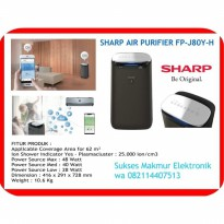 New Model Sharp Air Purifier FP-J80Y-H Intelligent  with AIoT function Cap 62 m