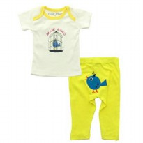 Bearhug 2-Piece Set Baby Boy - Bird - 3M
