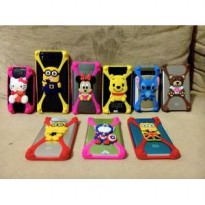 Ring case jelly Bumper 3D karakter boneka hello kitty minion doraemon