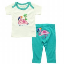 Bearhug 2-Piece Set Baby Girl ( Flamingo ) - Tosca - 9M