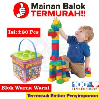 Creative Block Full color Isi 80 Pcs Mainan Anak Edukasi - OCT9804