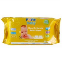 PURE BABY HAND & MOUTH WIPES 60 SHEET CHAMOMILE ORANGE
