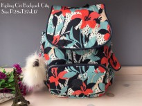 NEW....!! Authentic Kipling Ransel City Pack - Floral
