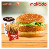 [LOTTERIA] Chicken Burger Set