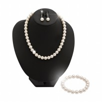 Exclusive Pearl Necklace, Earrings, Bracelet