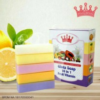 Fruitamin BPOM - Gluta Soap 10 in 1 Fruit Vitamin Original