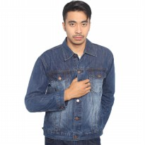 2Nd Red Jacket Denim/Jaket Jeans Trendy Blue Spray Bright -191208