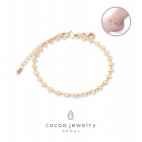 cocoa jewelry Gelang Kaki Wanita Korea - Dazling You Gold Color - NO BOX