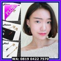 (Sale) Anting Import Korea Model Panjang Tassel Cotton Style Plus