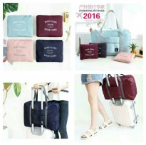 Tas Koper Lipat Luggage Foldable Travel Hand Carry Bag Organizer