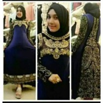 abaya india full bordir