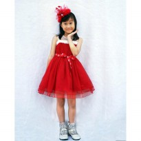 FREE HAIR BOW ~Cutevina~ Amour Chistmas Dress (6-8 th)AM3092