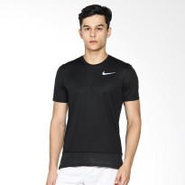 NIKE As Men Running Brthe Rapid Top Ss Baju Lari Pria - Black 833609-010