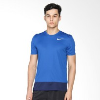 NIKE As Men Running Brthe Rapid Top Ss Baju Lari Pria - Blue 833609-433