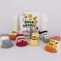 KAOS KAKI BAYI HAPPY TOES BABY SOCKS 6IN1 Motif: Cute Safari