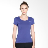 Nike As Dri-Fit Contour SS 644695-508 Kaos Olahraga Wanita - Purple