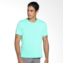Nike As Dri-Fit Contour Ss 683518-387 Kaos Olahraga - Green