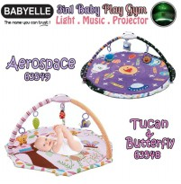 BabyElle 3in1 Baby PlayGym With Light, Music, and Proje