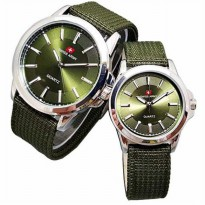 Swiss Army - SA761104-OK Jam Tangan Couple - Strap Kanvas (Hijau)
