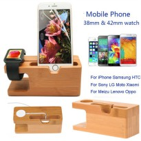 [globalbuy] 100 Wood Bamboo Station Bracket Cradle Stand Charging Dock Holder+Golf Cable C/2953661