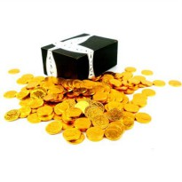 [poledit] Black Tie Mercantile Milk Chocolate Gold Coins by Cuckoo Luckoo Confections, 1 l/14703390