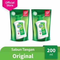 Dettol Hand Wash Original 200 ml Pouch 2 Pcs