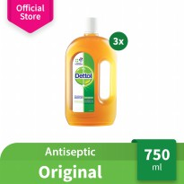 Dettol Antiseptic Liquid 750 ml 3 Pcs
