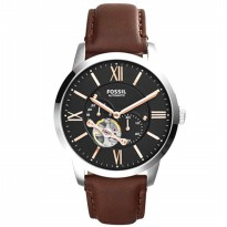 Fossil Townsman Automatic ME3061 - Jam Tangan Pria - Stainless Steel - Silver