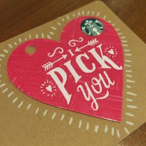 Kartu Starbucks Card Valentine 2016 Indonesia Limited Edition Pink