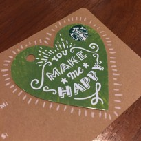 Kartu Starbucks Card Valentine 2016 Indonesia Limited Edition Green