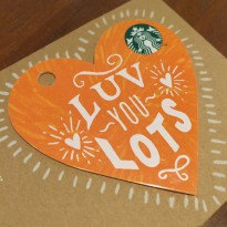 Kartu Starbucks Card Valentine 2016 Indonesia Limited Edition Orange